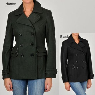 Esprit Women's Double-breasted Wool-blend Peacoat $96.99 thestylecure.com
