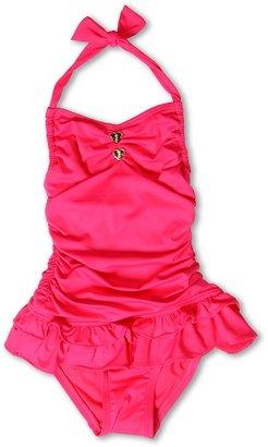 Juicy Couture Little Miss Divine Hearts Halter Swimdress (toddler/Little Kids/Big Kids) (Pink Berry) - Apparel