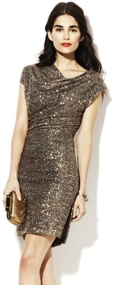 Vince Camuto Fitted Sequin Dress