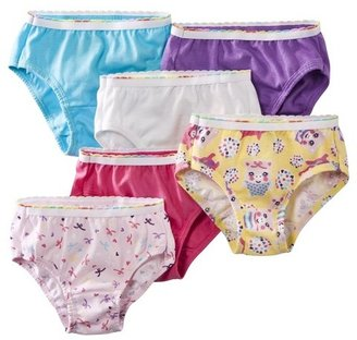 Hanes Toddler Girls 6 Pack Brief - Assorted Colors