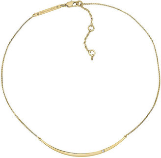 Michael Kors Gold-Tone & Crystal Necklace
