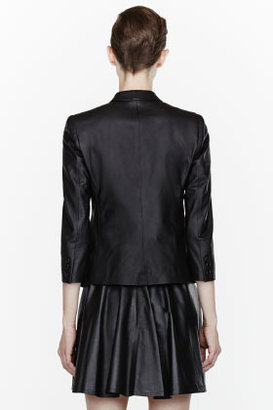 Band Of Outsiders Black Classic Leather Blazer