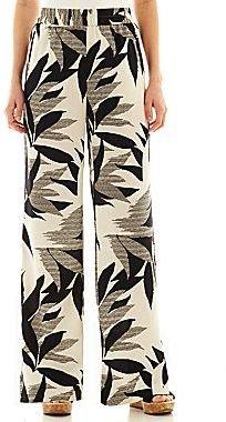 JCPenney Worthington Wide-Leg Soft Pants