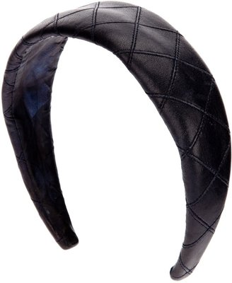 Chanel quilted leather hairband