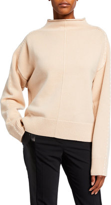 Helmut Lang Stitched Mock-Neck Wool-Cashmere Sweater