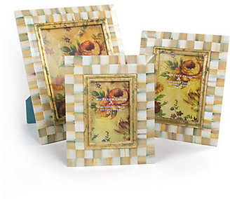 Mackenzie Childs MacKenzie-Childs Parchment Check Picture Frame