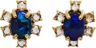 Irene Neuwirth Diamonds Lightning Ridge Black Opal & Diamond Stud Earrings