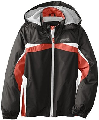 London Fog Big Boys' Solid Active Radiance Outerwear Jacket with Front Stripe