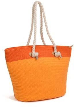 Magid Extra Large Two Tone Straw Tote