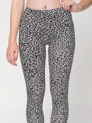 American Apparel Winie Print Cotton Spandex Jersey Legging