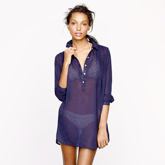 J.Crew Whisper gauze beach tunic