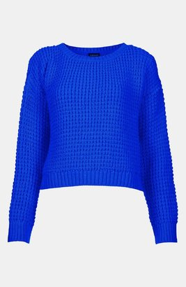 Topshop Crop Sweater Electric Blue 12