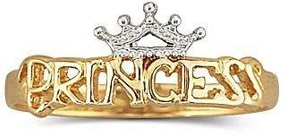 Disney 10K Princess Tiara Ring