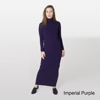American Apparel Women's Jersey Knit Turtleneck Maxi Dress $27.99 thestylecure.com