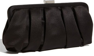 Nina 'Logan' Satin Clutch - Black $60 thestylecure.com