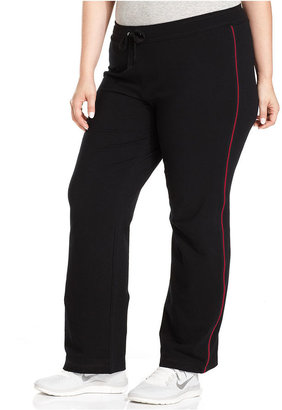 Style&Co. Sport Plus Size Piped Drawstring Active Pants