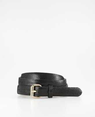 Ann Taylor Perfect Exotic Embossed Leather Skinny Belt