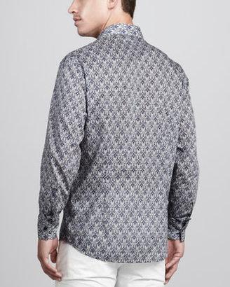 Versace Jacquard-Print Sport Shirt