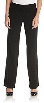 Sequin Hearts Juniors' Black Extended-Button Dress Pants