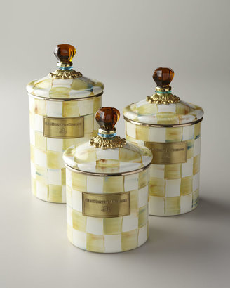 Mackenzie Childs MacKenzie-Childs Parchment Check Canisters