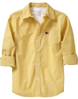 Old Navy Boys Patterned Poplin Shirts