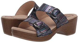 Dansko Sophie (Black Full Grain) Women's Sandals