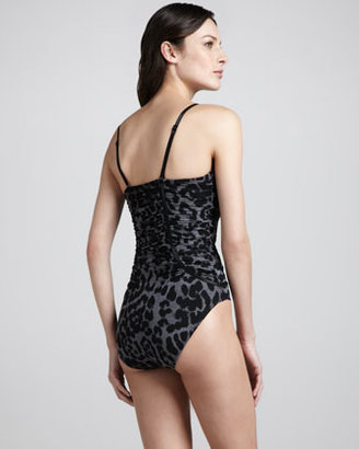 Spanx Piping Hot Printed One-Piece Swimsuit