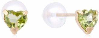 Candy (キャンディ) - [キャンディ] Candy K10 ペリドット ハートピアス TBuma-pe-yg