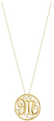 The Cool People Dee Berkley for Initial Pendant Necklace (Gold M) - Jewelry