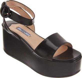 Prada Single Band Flatform Sandal