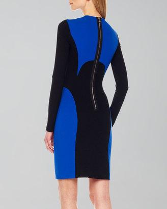 Michael Kors Two-Tone Ponte Dress