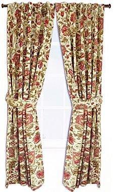 "Waverly Imperial Dress Brick 84"" Drape Pair"
