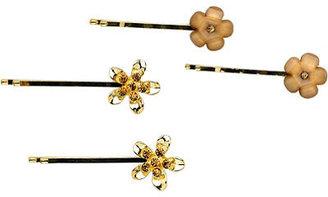 Karina Gold Flower Bobby Pin 4 Ct