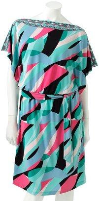 JLO by Jennifer Lopez kaleidoscope kimono dress