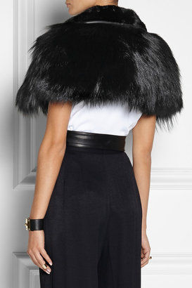 Jason Wu Belted leather, mink and fox gilet