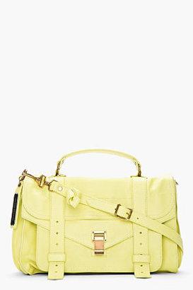 Proenza Schouler Light banana leather ps1 pouch messenger