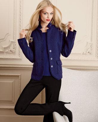 Eileen Fisher Double-Knit Felt Jacket, Petite