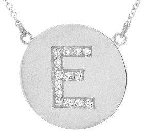 Jennifer Meyer Diamond Letter Necklace - E - White Gold