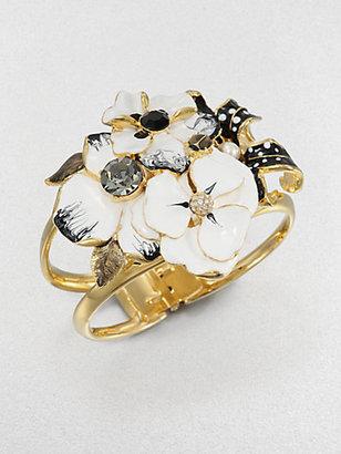 Kenneth Jay Lane Enamel Flower Cuff Bracelet