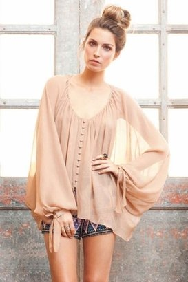 Winter Kate Pushpa Blouse in Natural Beige