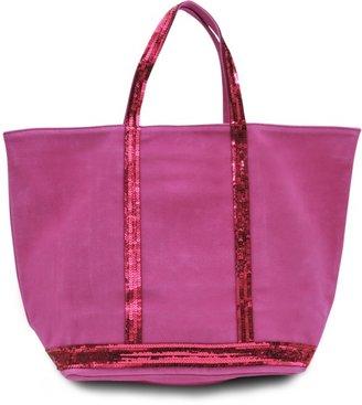Vanessa Bruno Medium+ velvet leather tote with glitter