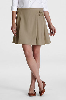 Lands' End Women's Side Buckle Skirt (Above The Knee)