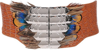 Forever 21 Faith21 Feather Accent Belt