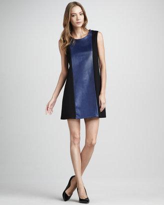 Patterson J. Kincaid Clara Leather Combo Dress