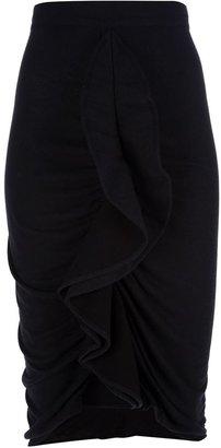 Givenchy ruffled pencil skirt