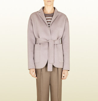 Gucci Grey Soft Wool Deconstructed Coat