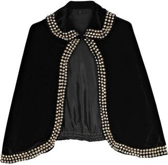 Bess Velvet studded cape