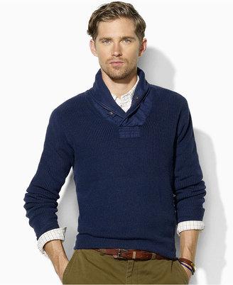 Polo Ralph Lauren Sweater, Ribbed Shawl Sweater