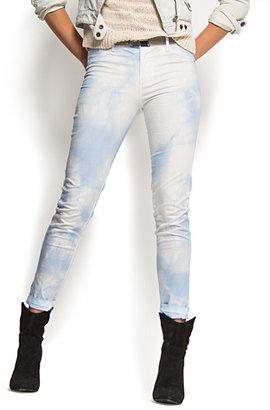 MANGO Tie dye cropped trousers