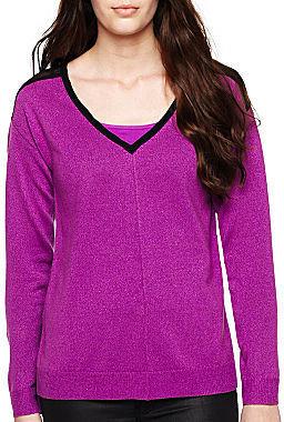 Nicole Miller nicole by Chiffon-Back Sweater